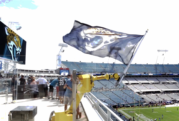 Cheer-jaguars-flag-waving-robot